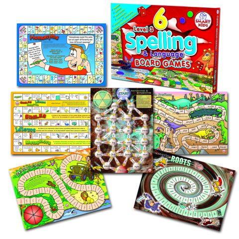 Spelling & Language Board Games Level 3