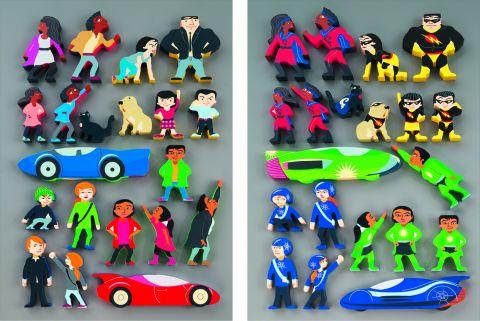Superheroes Wooden Characters
